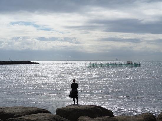 海を見ていた人